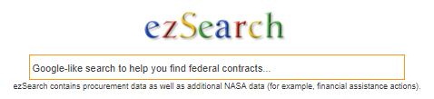 Image of the FPDS ezSearch