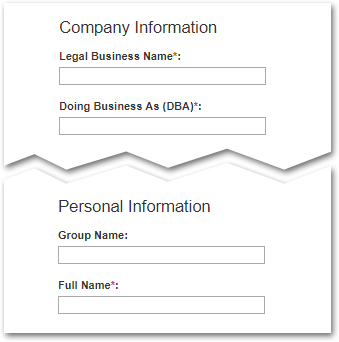 Image of FBO.gov registration fields