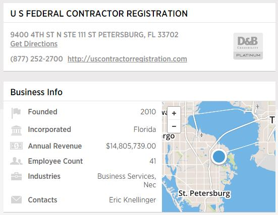 US Federal Contractor Registration - D&B Platinum